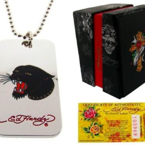 Ed Hardy Panther Necklace